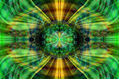 Futuristic green and yellow sphere — Stock Photo