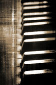 Grunge piano keys — Stock Photo