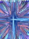 クロス ステンド グラス宗教図 — ストック写真