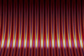 Red and yellow striped curved background — Stock Photo