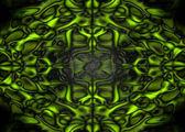 Fundo verde fantasia — Foto Stock