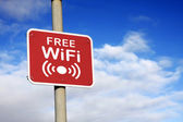 Free WiFi sign — Stock Photo