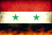 Syria Conflict Flag — Stock Photo