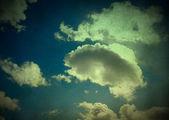 复古云朵背景 — 图库照片