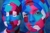 Cubism styled ladies — Stock Photo