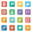 Set of trendy flat icons — Stock Vector