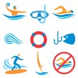 Royalty-Free Stock Vector Image: Water sport icons