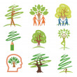 And trees icons — Stock Vector #13899439