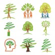 And trees icons - Stock Vector