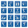 Royalty-Free Stock Vector Image: Set of blue sport icons