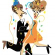 Royalty-Free Stock Vector Image: New Years party dancer