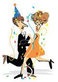 Новогодний партийный танцор — Cтоковый вектор