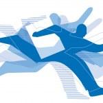 Running men — Stock Vector