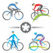 Cycling icons — Stock Vector