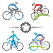 Cycling icons — Stock Vector #25416087