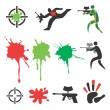 Paintball icons design elements — Stock Vector #27525565