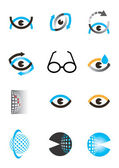 Optics eye icon set — Stock Vector