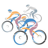 Cycle race — Stock Vector