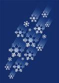 Snow flakes stream — Stock Vector