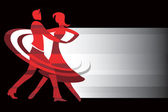 Dancing couple background — Stock Vector