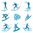 Winter sport symbols — Stock Vector