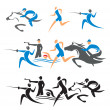 Modern pentathlon icons — Stock Vector