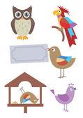 Birds cartoon. — Stock Vector