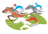 Horse racing. — Stock Vector