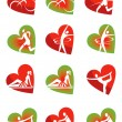 Fitness icons heart shape — Stock Vector