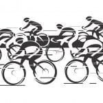 Постер, плакат: Peleton Cycle race