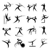 Summer sport games icons set. — Stock Vector