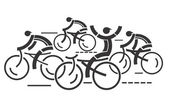 Cycling competition — Stock Vector