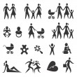 Family life icons — Stock Vector #51652131