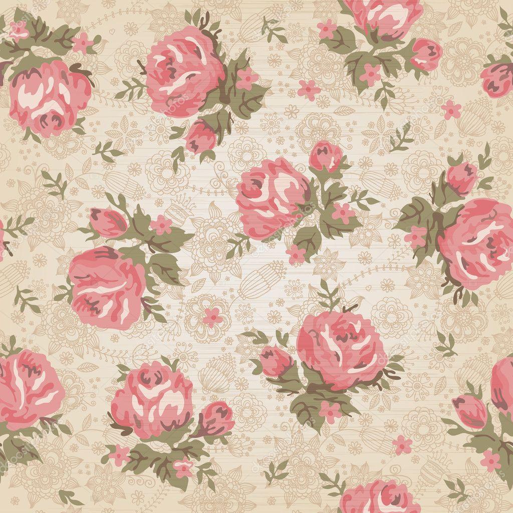 vintage motif floral sans soudure image vectorielle vikasuperstar 10112176. Black Bedroom Furniture Sets. Home Design Ideas