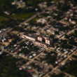 Tilt-shift miniature effect of bird eye view of buildings — Foto de Stock