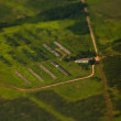 Image of summer green meadow with tilt shift effect. — Стоковая фотография