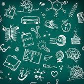çocuk çizilmiş ayarlayın. geri school şekil. — Stok Vektör