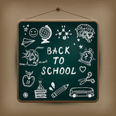 Hand-drawn children set. Back to school illustration. — Stockvector