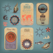 Decorative Nautical Set — Imagen vectorial