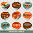 Vintage Style Speech Bubbles Cards — Stock Vector #21254437