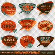 Vintage Style Speech Bubbles Cards - Grafika wektorowa