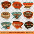 Vintage Style Speech Bubbles Cards — Vector de stock #21429285