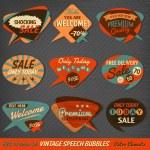 Vintage Style Speech Bubbles Cards — Stock Vector #21734433