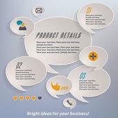 Resumen de gráficos 3d de papel — Vector de stock