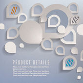 Abstract 3D Paper Graphics — Vetorial Stock