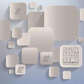 3d abstrait papier graphique — Vecteur