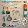 Retro infographics set. Map and Information elements. — Wektor stockowy #26556137