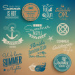 Summer vintage elements - Stockvectorbeeld