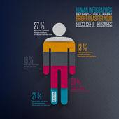 Infografía humana. — Vector de stock