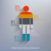 Human infographics. — Stock Vector